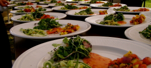 Micro salads at a winemaker's dinner at Stone Cottage Cellars in Paonia Colorado