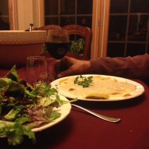 Acorn Squash Ravioli with Colorado Pinot Noir