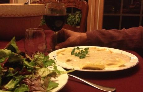 Acorn Squash Ravioli with Colorado Pinot Noir