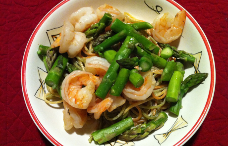 Spicy Shrimp and Asparagus